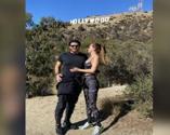 Ebru Şallı ve eşi Uğur Akkuş'tan Hollywood pozu