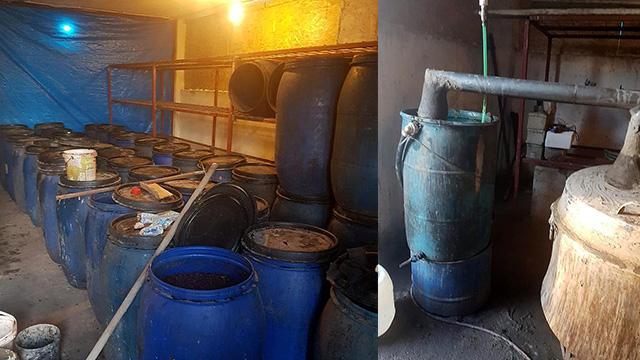 Adana'da 11,5 ton sahte içki ele geçirildi