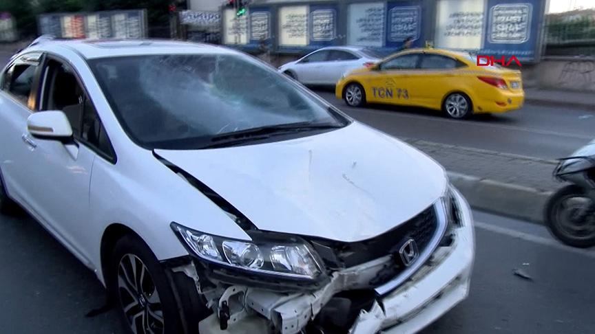 Oyuncu Taşdöğen'in çarptığı motosikletli yaralandı