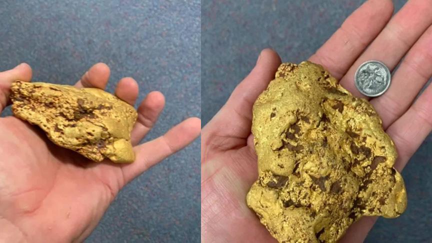 Metal dedektörle 420 bin lira değerinde altın buldu!