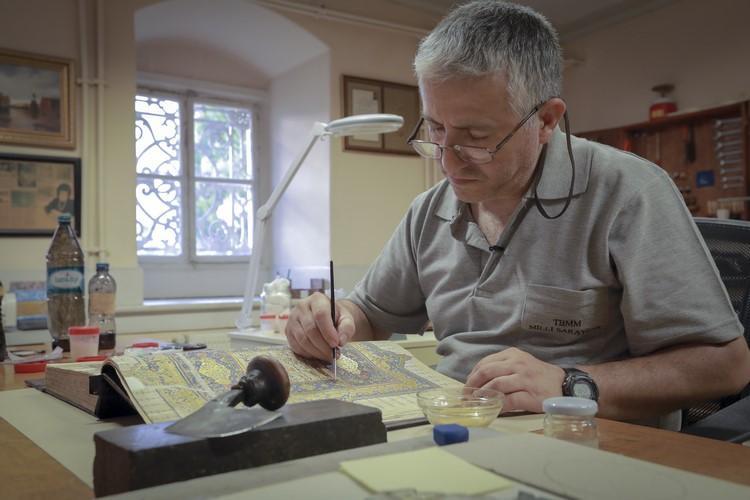455 yıllık Kur'an-ı Kerim restore ediliyor