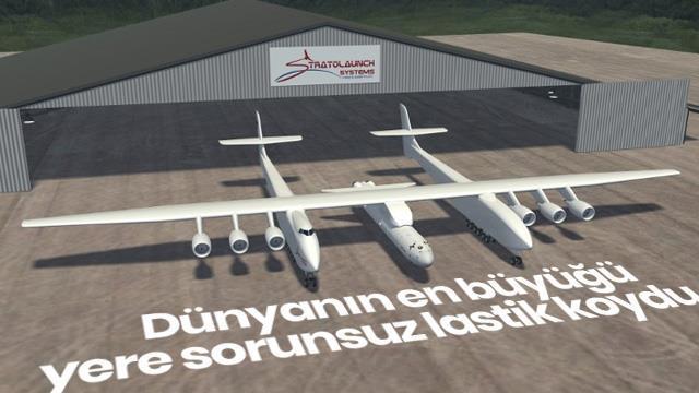 Dünyanın en büyük uçağı Roc, ilk uçuşunu sorunsuz gerçekleştirdi