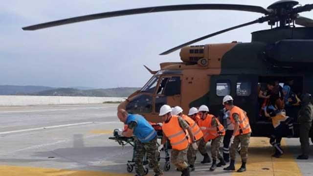 Yanarak yaralanan çocuk için askeri helikopter havalandı
