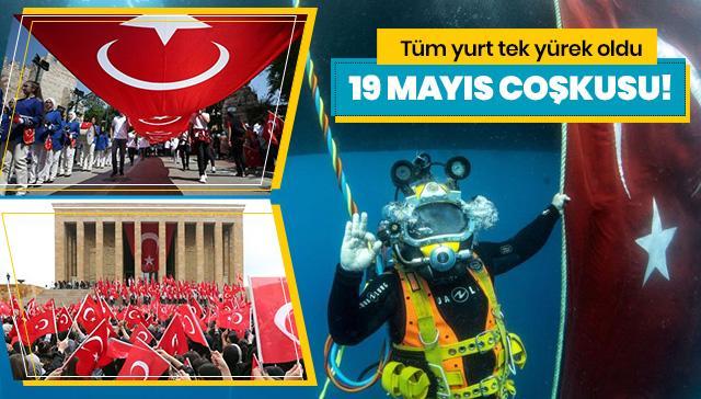 Yurtta 19 Mayıs coşkusu! Gençler Milli Mücadele'nin 100. yılını böyle kutladı