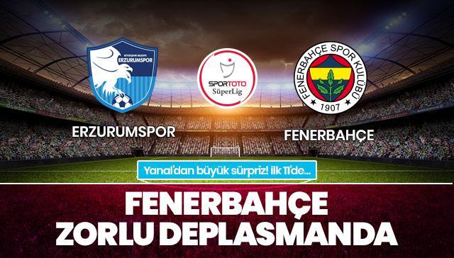 Erzurumspor-Fenerbahçe CANLI