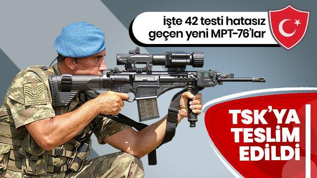 42 testi hatasız geçtiler... TSK'ya teslim edilmişler