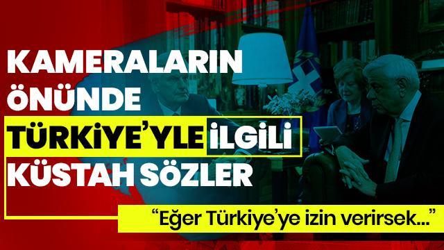 Kameralar önünde Türkiye ile ilgili küstah sözler!