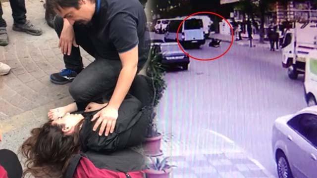 Maltepe'de minibüs terörü! Genç kız kapısı açık minibüsten böyle düştü