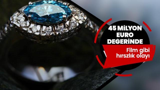45 milyon euroluk pırlanta çalındı