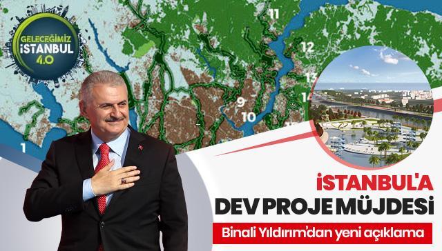 Binali Yıldırım: İstanbul'da 7 bin 600 stat büyüklüğünde yeşil alan olacak