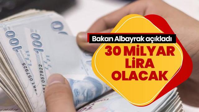 Bakan Berat Albayrak:  3 faaliyet alanına 30 milyar lira finansman sağlanacak