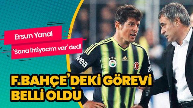 Emre Belözoğlu'nun Fenerbahçe'deki görevi belli oldu