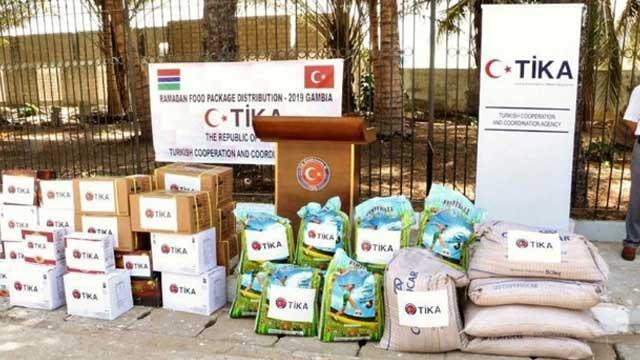 TİKA'dan Gambiyalı ihtiyaç sahiplerine ramazan yardımı