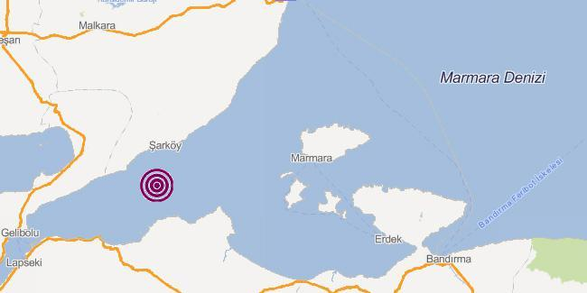 Son Dakika Haber: Marmara Denizi'nde korkutan deprem