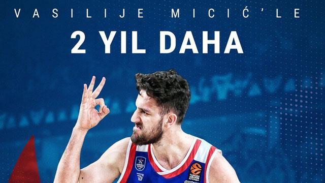 Vasilije Micic 2 yıl daha Anadolu Efes'te
