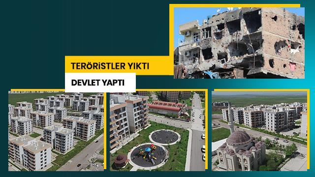 Teröristler yıktı devlet yaptı