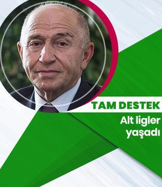 Nihat Özdemir'den alt liglere tam destek