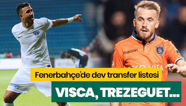 Fenerbahçe transfer gaza bastı! Edin Visca, Trezeguet, İrfan Can ve Azubuike...