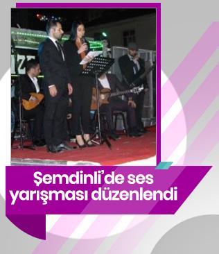 Şemdinli'de ses yarışması düzenlendi