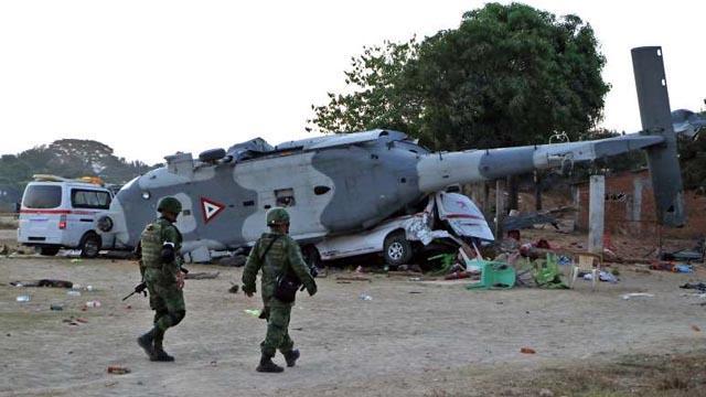 Meksika'da askeri bir helikopterin düşmesi sonucu 6 kişi öldü