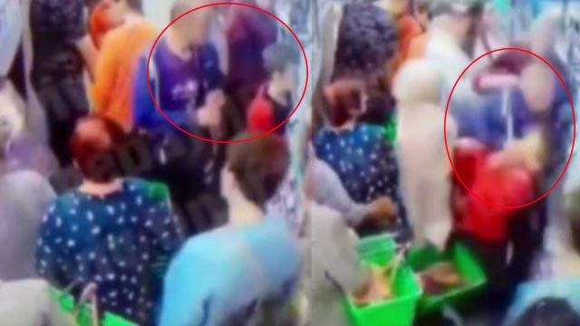 Ukrayna'da bir adam markette çocuğun boynunu kırmaya çalıştı
