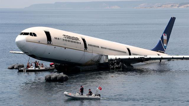 Edirne'nin İbrice Limanı'nda dev uçak böyle batırıldı