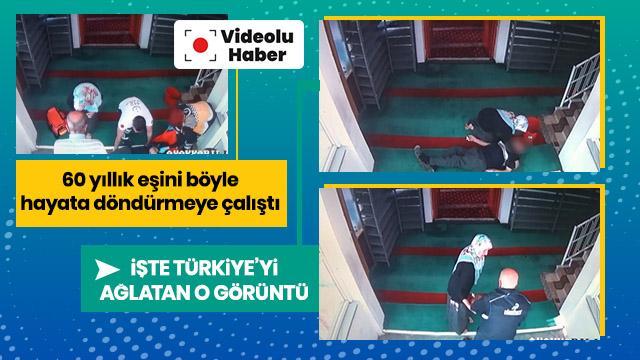 60 yıllık eşini hayata böyle döndürmeye çalıştı... İşte Türkiye'yi ağlatan o görüntü
