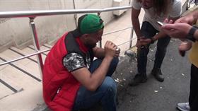 İstanbul Taksim'de yüzüne tiner atılan kişi yaralandı