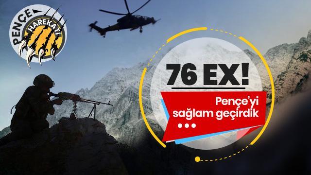 Son Dakika... 27 Mayıs'tan bugüne 76 terörist etkisiz hale getirildi