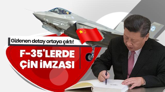 Gizlenen detay ortaya çıktı! F-35'lerde Çin imzası