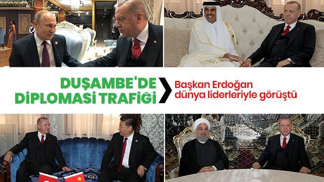 Başkan Erdoğan'dan liderlerle kritik görüşmeler