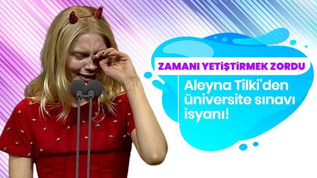 Aleyna Tilki'den üniversite sınavı isyanı
