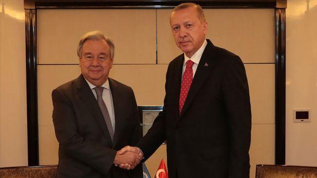 Başkan Erdoğan, BM Genel Sekreteri Guterres ile telefonda görüştü