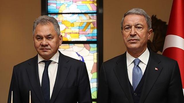 Bakan Akar, Rusya Savunma Bakanı ile görüştü