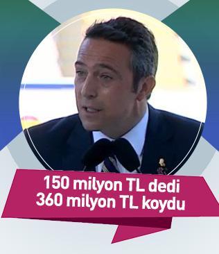 150 milyon TL dedi 360 milyon TL koydu