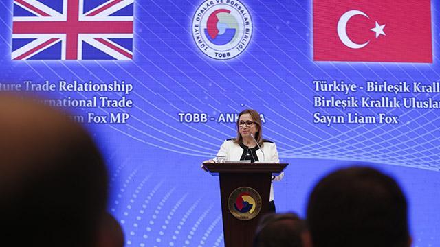 Ticaret Bakanı Pekcan, İngiliz Bakan Fox ile görüştü