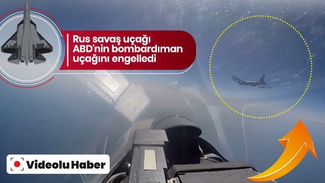 Rus savaş uçağı ABD'nin bombardıman uçağını engelledi