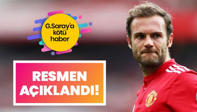 Galatasaray'a kötü haber! Juan Mata resmen imzaladı