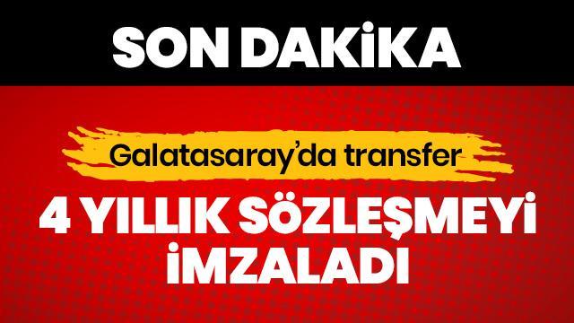 SON DAKİKA! Galatasaray'da bir transfer daha