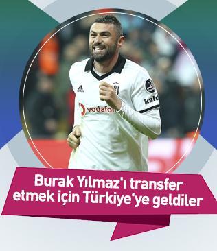 Lecce ekibi,  Burak Yılmaz'ı transfer etmek için Türkiye'ye geldi