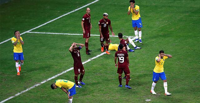 2 golü iptal edilen Brezilya, Venezuela ile berabere kaldı