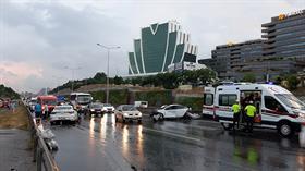 İstanbul'da zincirleme trafik kazası: Yaralılar var