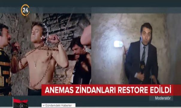 Cüneyt Arkın'ın film sahnelerin çekildiği Anemas Zindanları restore edildi