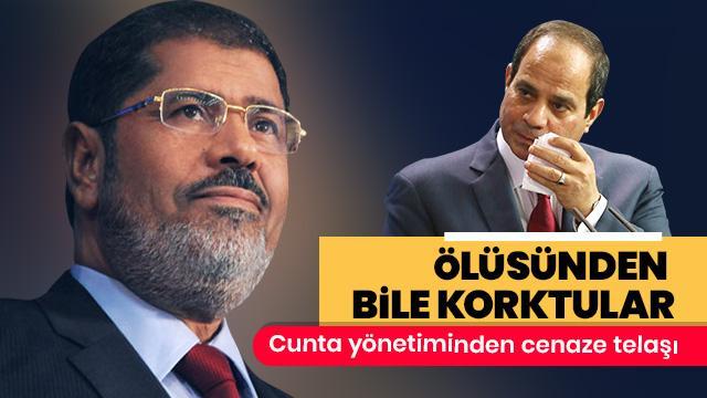 Batı destekli darbeciler Mursi'nin ölüsünden bile korktular