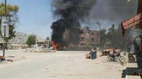 Afrin'de ÖSO aracına yerleştirilen bombanın patlaması 1 muhalif hayatını kaybetti