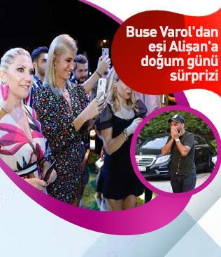 Buse Varol'dan eşi Alişan'a doğum günü sürprizi