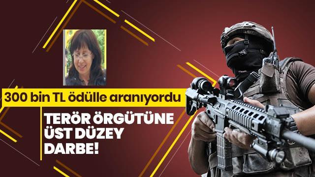 Gri listedeki terörist Kamile Kayır yakalandı