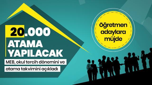 20 bin öğretmen alımında okul tercihi ve atama takvimi açıklandı