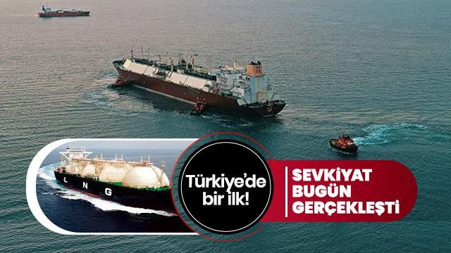 Türkiye'ye ilk büyük sevkiyat yapıldı... Tam 207 bin metreküp!