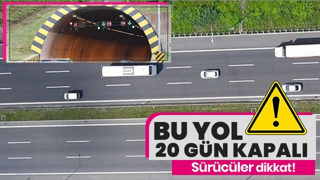 Dikkat! Kaynaşlı ile Bolu Tüneli arası 20 gün süreyle ulaşıma kapatıldı